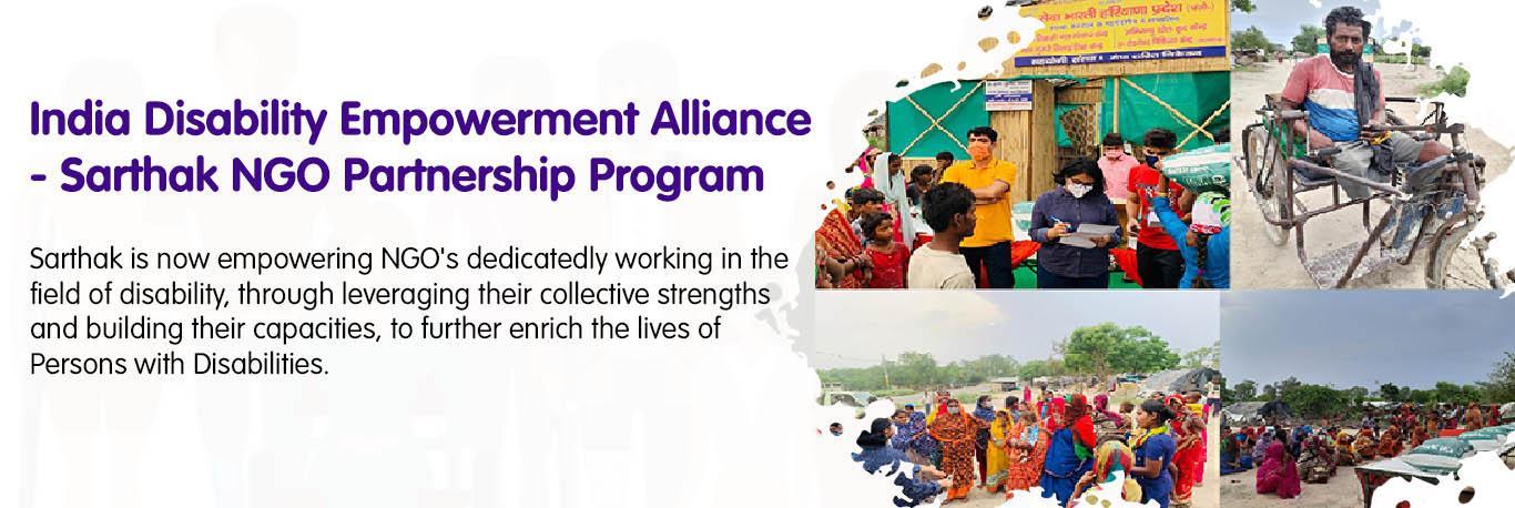 India Disability Empowerment Alliance - Sarthak NGO Partnership Program
